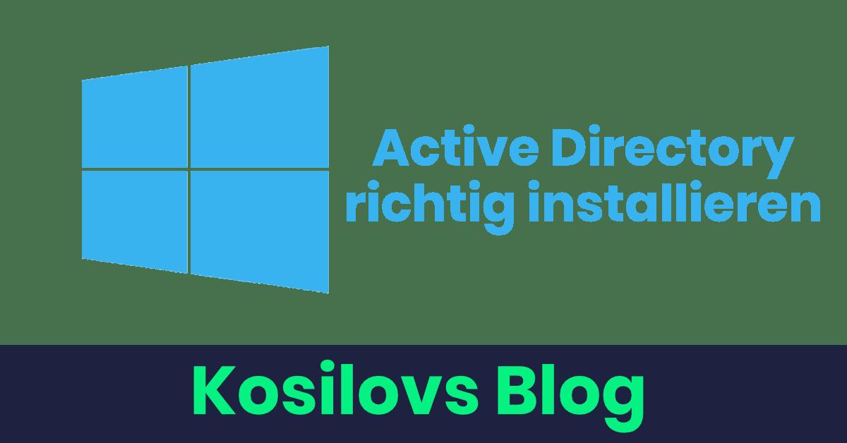 Active Directory installieren - Titlebild