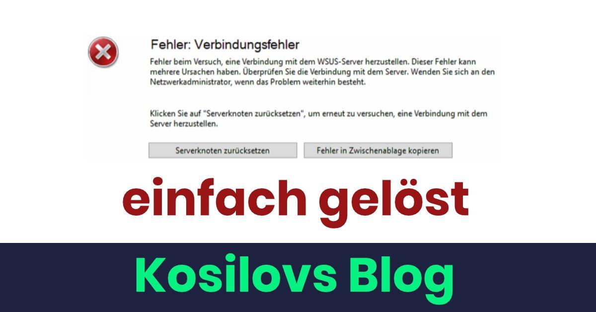 WSUS Verbindungsfehler - Titlebild