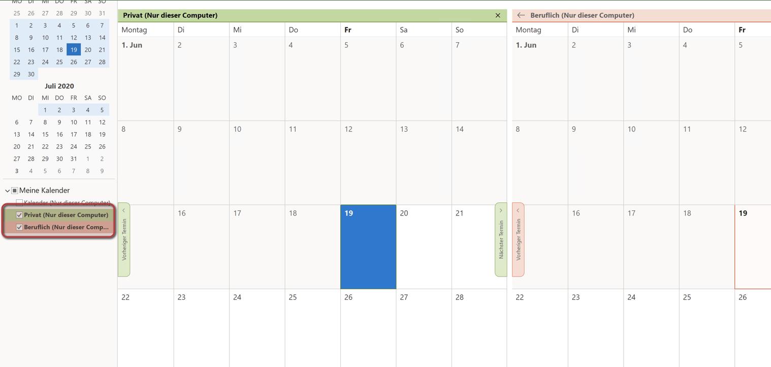 Outlook Kalender hinzufügen Übersicht