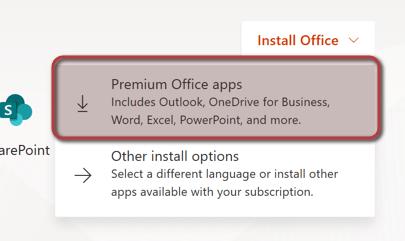Outlook Anmeldung - Installation wählen