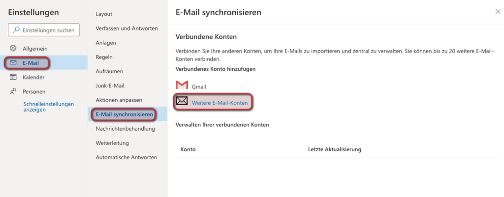 Outlook Anmeldung - Outlook Web App Email hinzufügen
